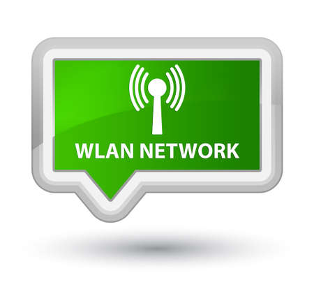 wlan: Wlan network green banner button Stock Photo