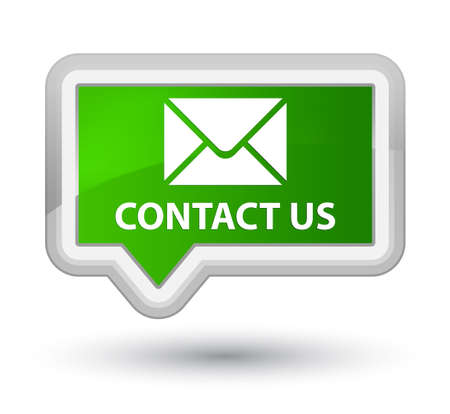 email contact: Contact us (email icon) green banner button