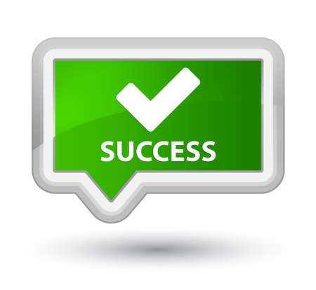 validate: Success (validate icon) green banner button