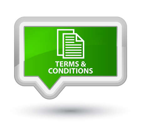 terms: Terms and conditions (pages icon) green banner button