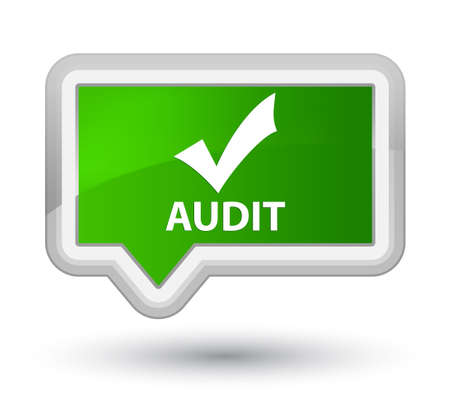 validate: Audit (validate icon) green banner button