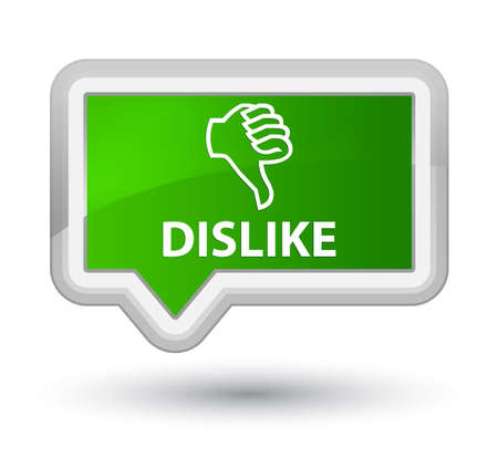 disapprove: Dislike green banner button Stock Photo