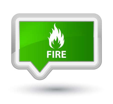 Fire green banner button