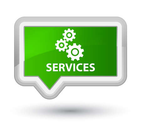 preference: Services (gears icon) green banner button