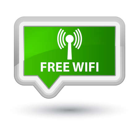 crossover: Free wifi (wlan network) green banner button