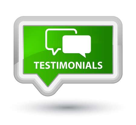 authenticate: Testimonials green banner button