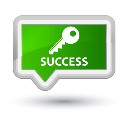 Success (key icon) green banner button Foto de archivo