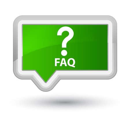 Faq (question icon) green banner button