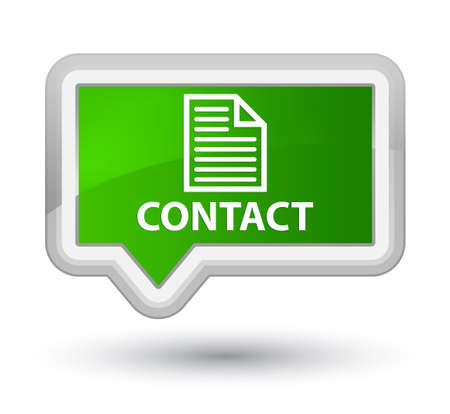 contact page: Contact (page icon) green banner button
