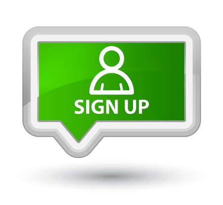 Sign up (member icon) green banner button