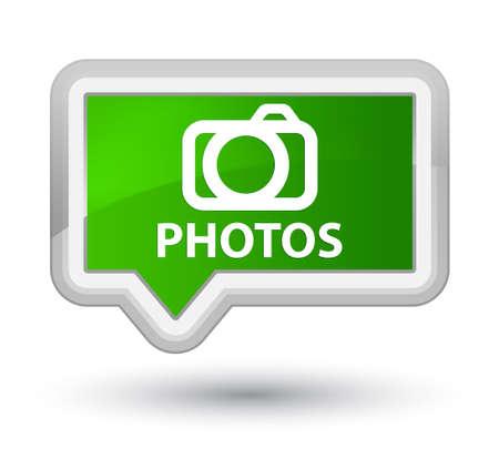 digital slr: Photos (camera icon) green banner button
