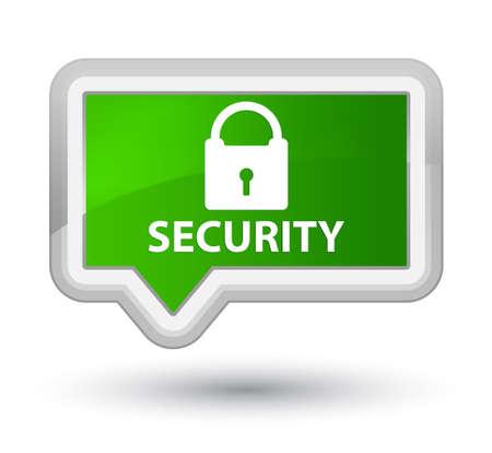 padlock icon: Security (padlock icon) green banner button