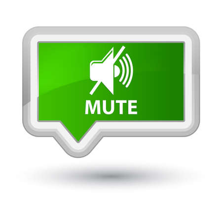 Mute green banner button
