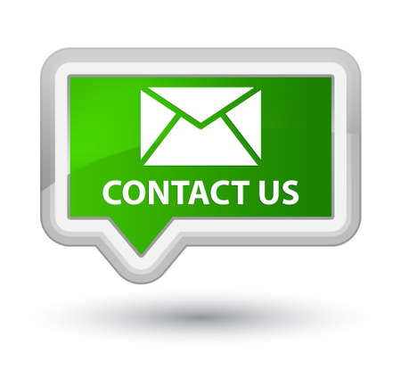 flysheet: Contact us (email icon) green banner button