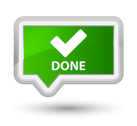 validate: Done (validate icon) green banner button Stock Photo