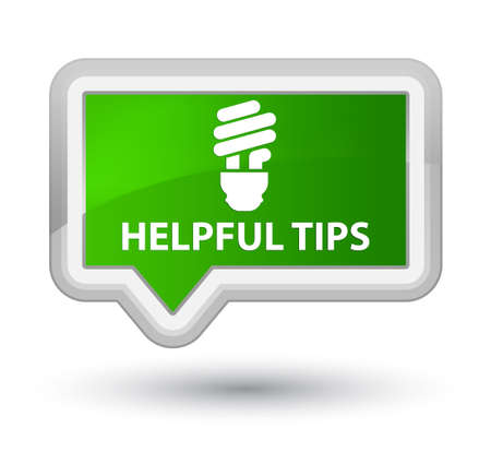 incandescence: Helpful tips (bulb icon) green banner button