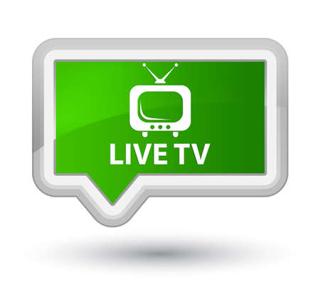Live tv green banner button