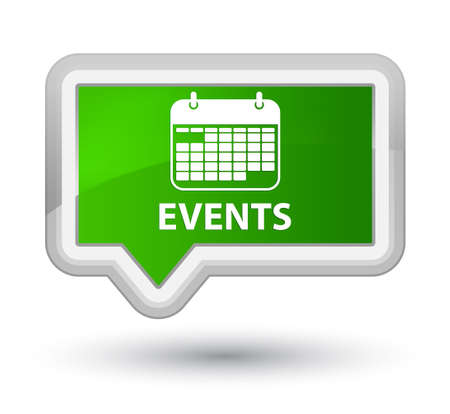 current events: Events (calendar icon) green banner button