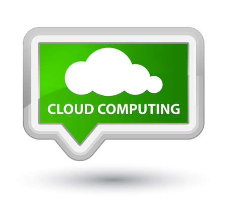 green computing: Cloud computing green banner button