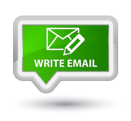 envelop: Write email green banner button