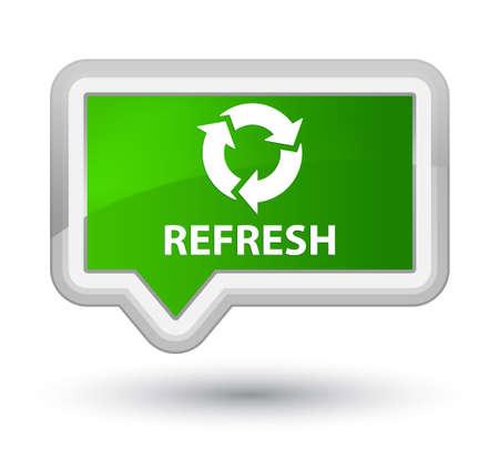 refresh button: Refresh green banner button Stock Photo