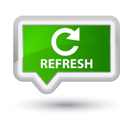 rotate: Refresh (rotate arrow icon) green banner button