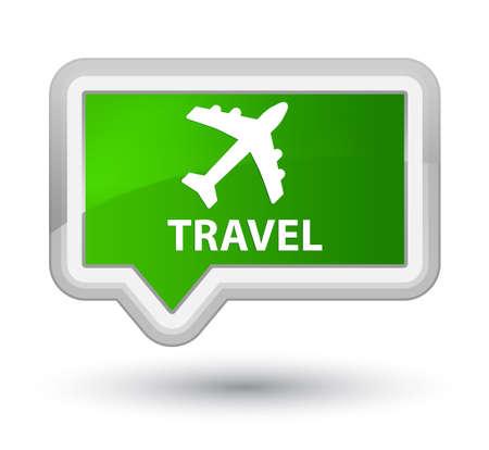 airway: Travel (plane icon) green banner button