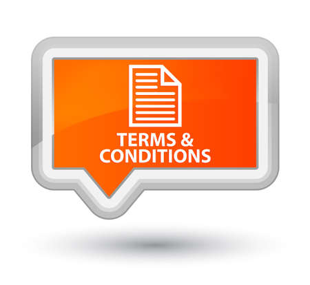 terms: Terms and conditions (page icon) orange banner button