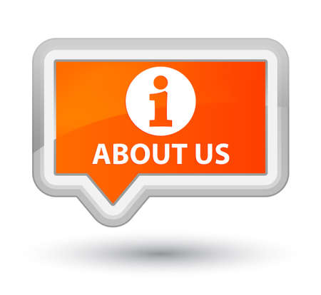 'about us': About us orange banner button