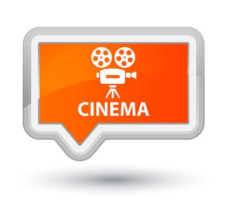 cinematographic: Cinema (video camera icon) orange banner button