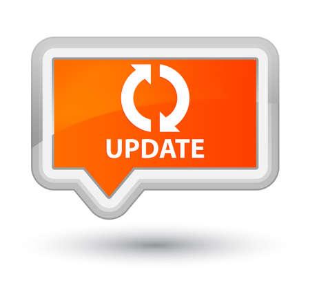 update: Update orange banner button