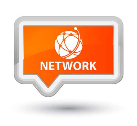 Network (global network icon) orange banner button