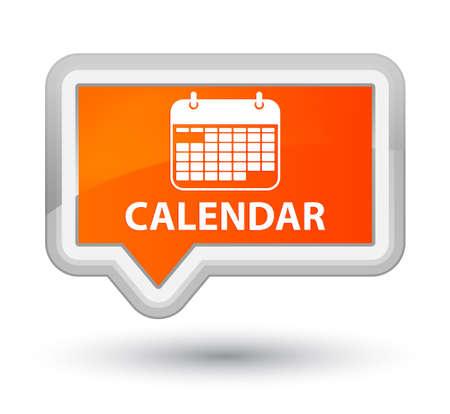 appointments: Calendar orange banner button Stock Photo