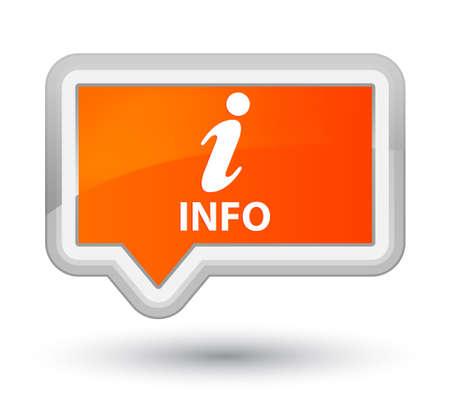 inquiry: Info orange banner button Stock Photo