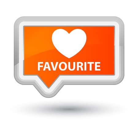 the favourite: Favourite (heart icon) orange banner button
