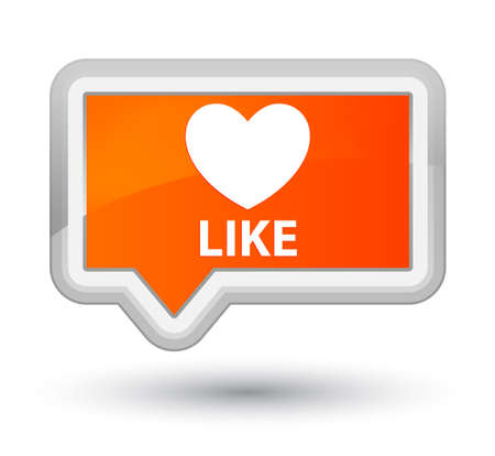 affections: Like (heart icon) orange banner button
