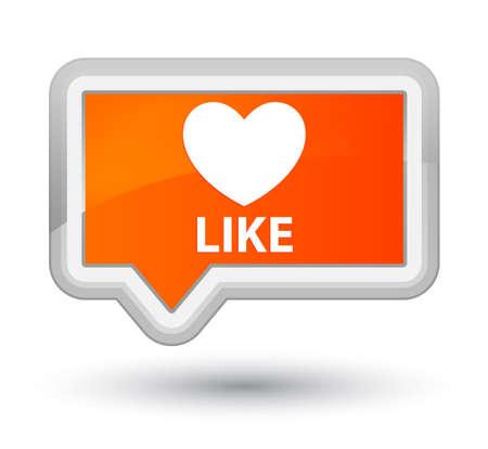 Like (heart icon) orange banner button