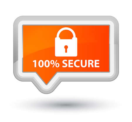 orange banner: 100% secure orange banner button