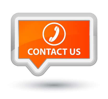 contact us phone: Contact us (phone icon round border) orange banner button