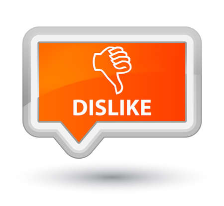 disapprove: Dislike orange banner button Stock Photo