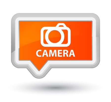 digital slr: Camera orange banner button