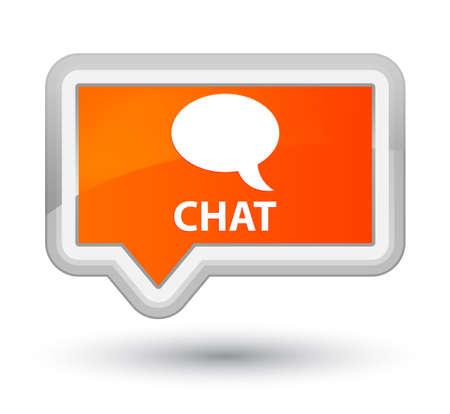 chat: Chat orange banner button