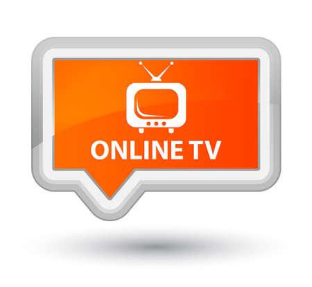 Online tv orange banner button