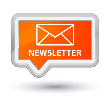 Newsletter orange banner button