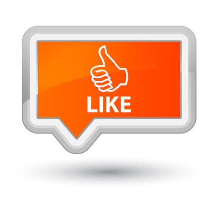 Like orange banner button