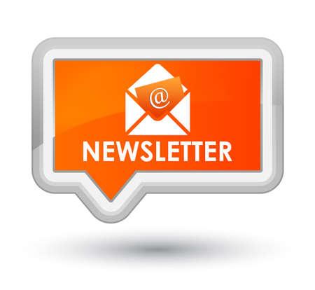 news letter: Newsletter orange banner button