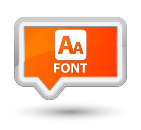 Font orange banner button