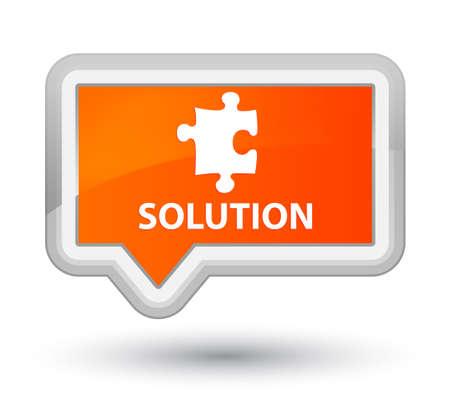plugin: Solution (puzzle icon) orange banner button