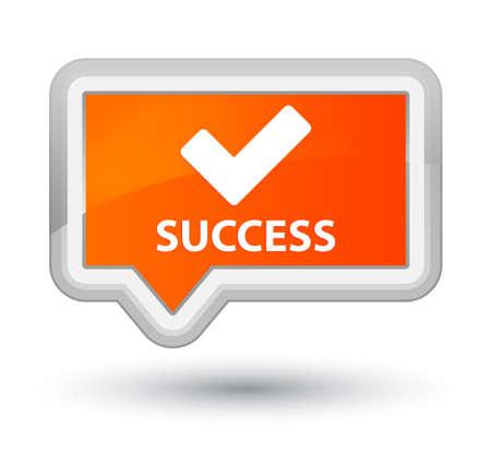 validate: Success (validate icon) orange banner button