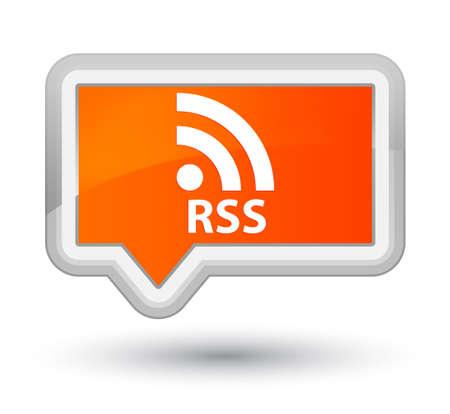 orange banner: RSS orange banner button
